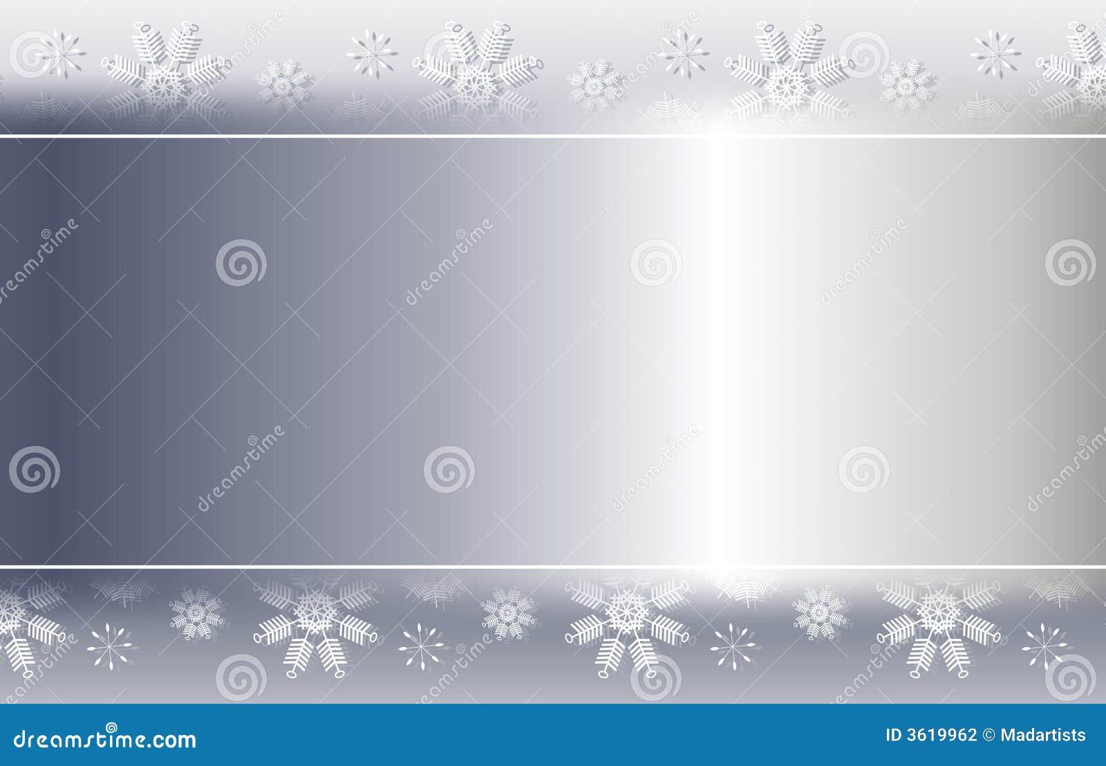 Frontera de plata 2 del fondo del copo de nieve