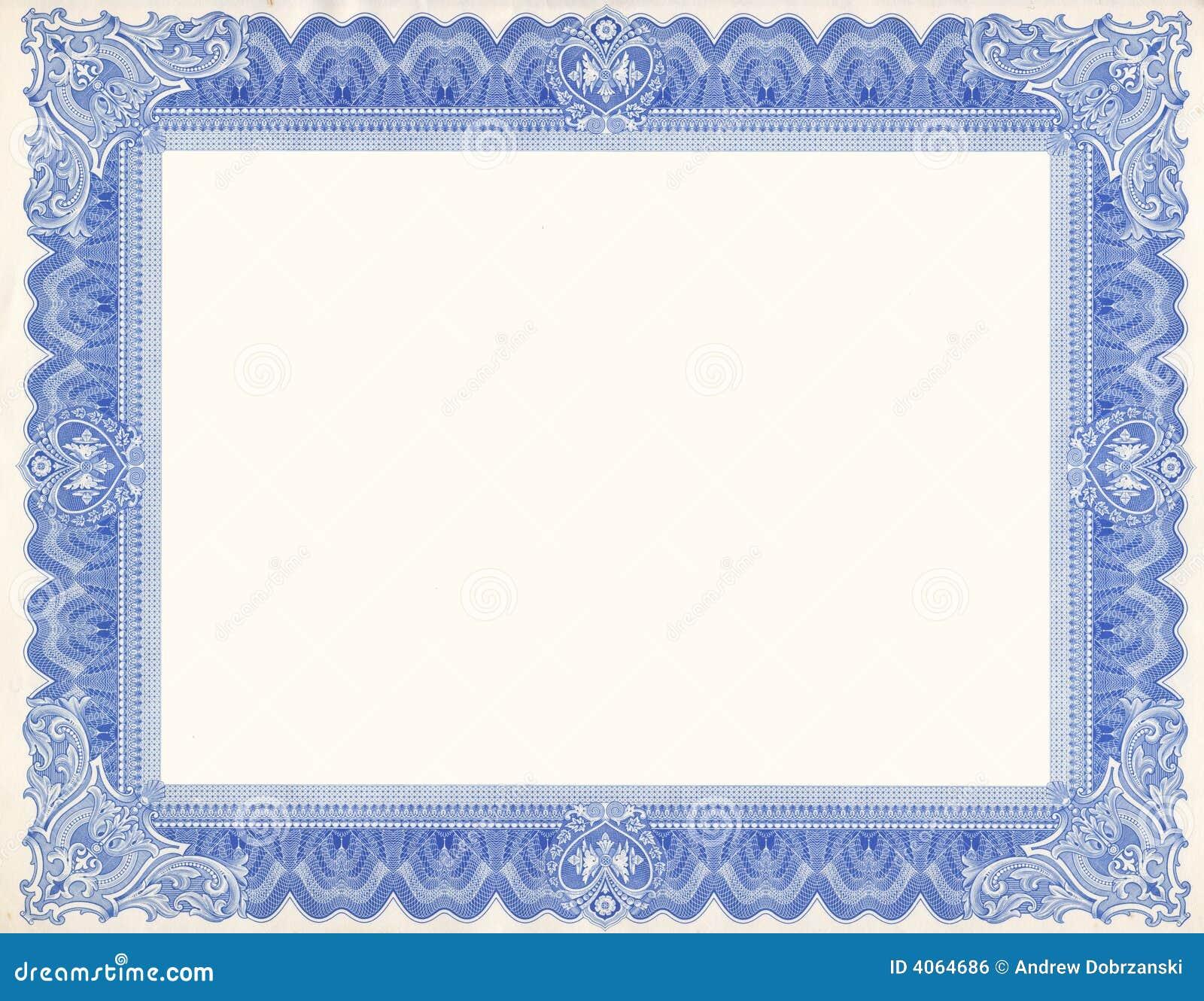 Frontera del certificado