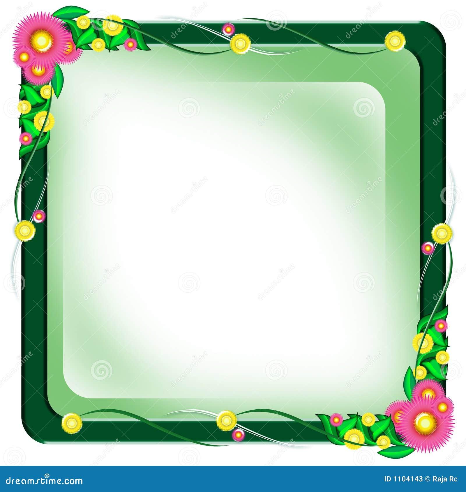 Frontera del marco de la flor