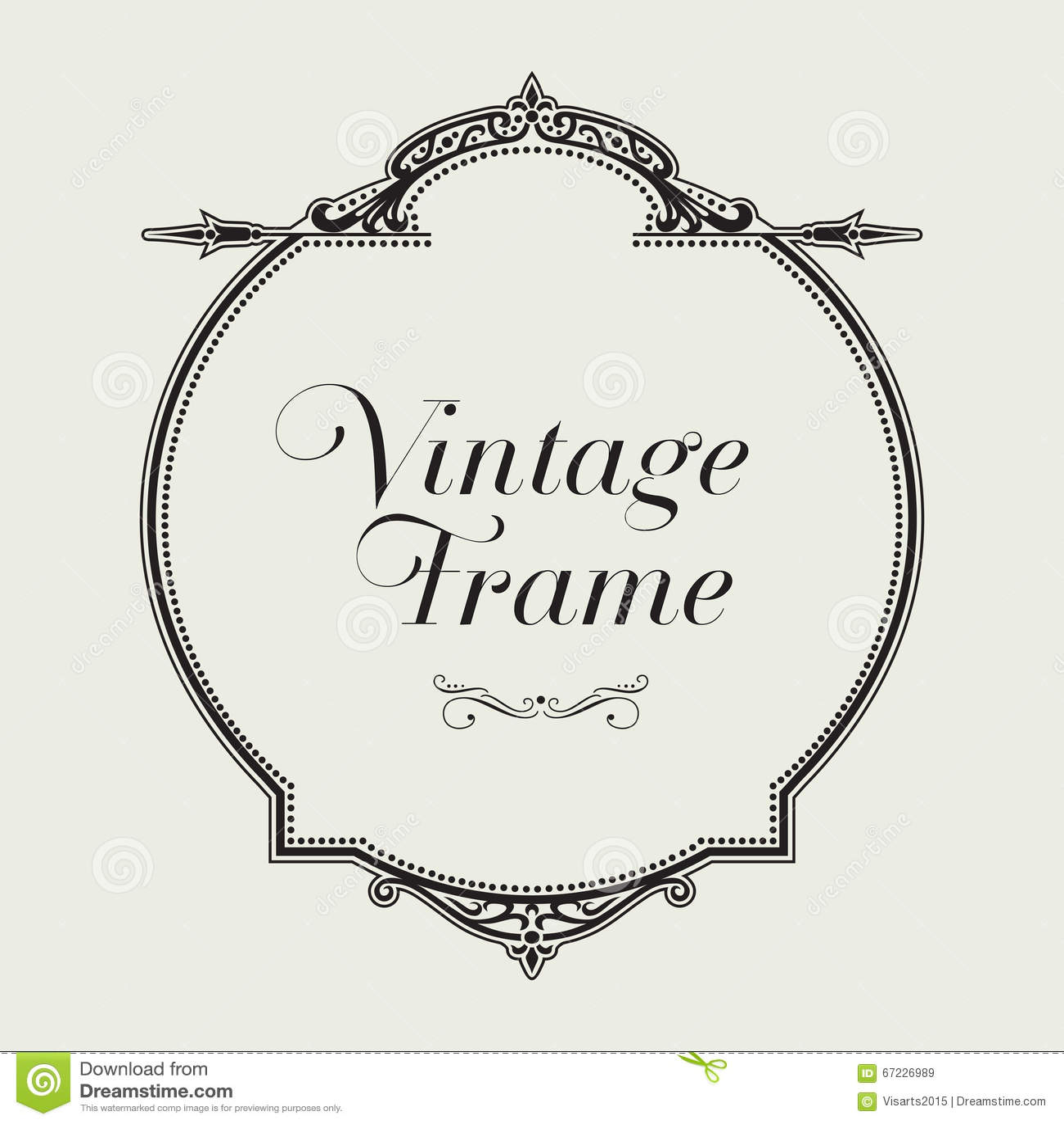 Frontera Del Ornamento Del Vintage Vector Floral Decorativo Del ...