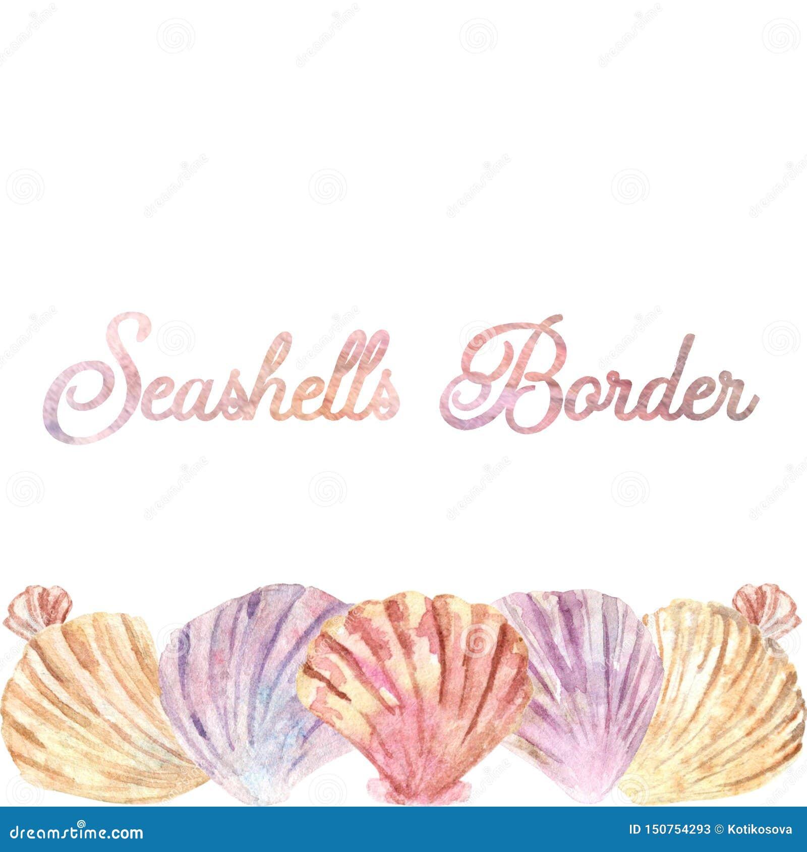 Frontera horizontal de la cáscara de la acuarela Perfeccione para las tarjetas de visita o los postes sociales de los medios