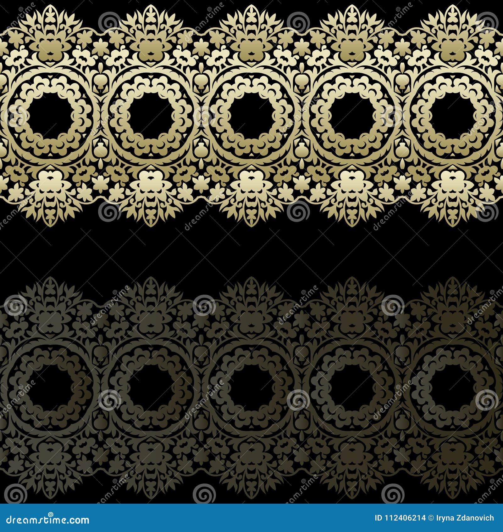 Fronteras del cordón del oro, líneas de papel ornamentales, vector Nombre del letrero Invitación romántica de la boda Abstraiga e