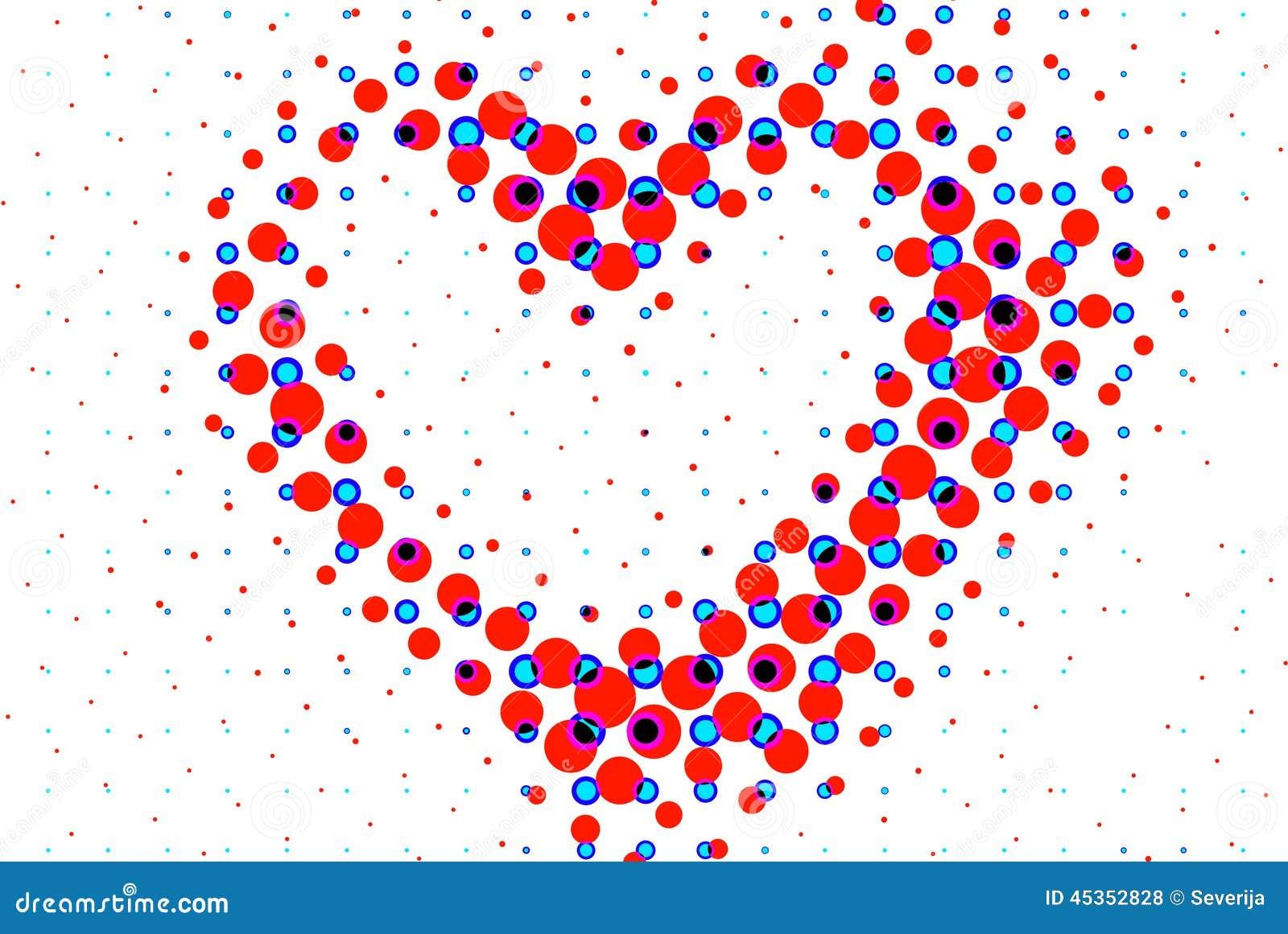 Frontière de cadre de forme de coeur d isolement