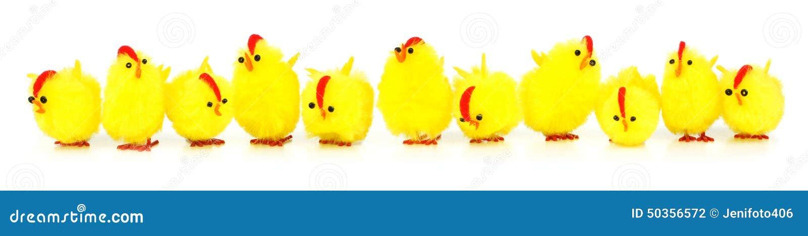 Frontière de poussins de Pâques