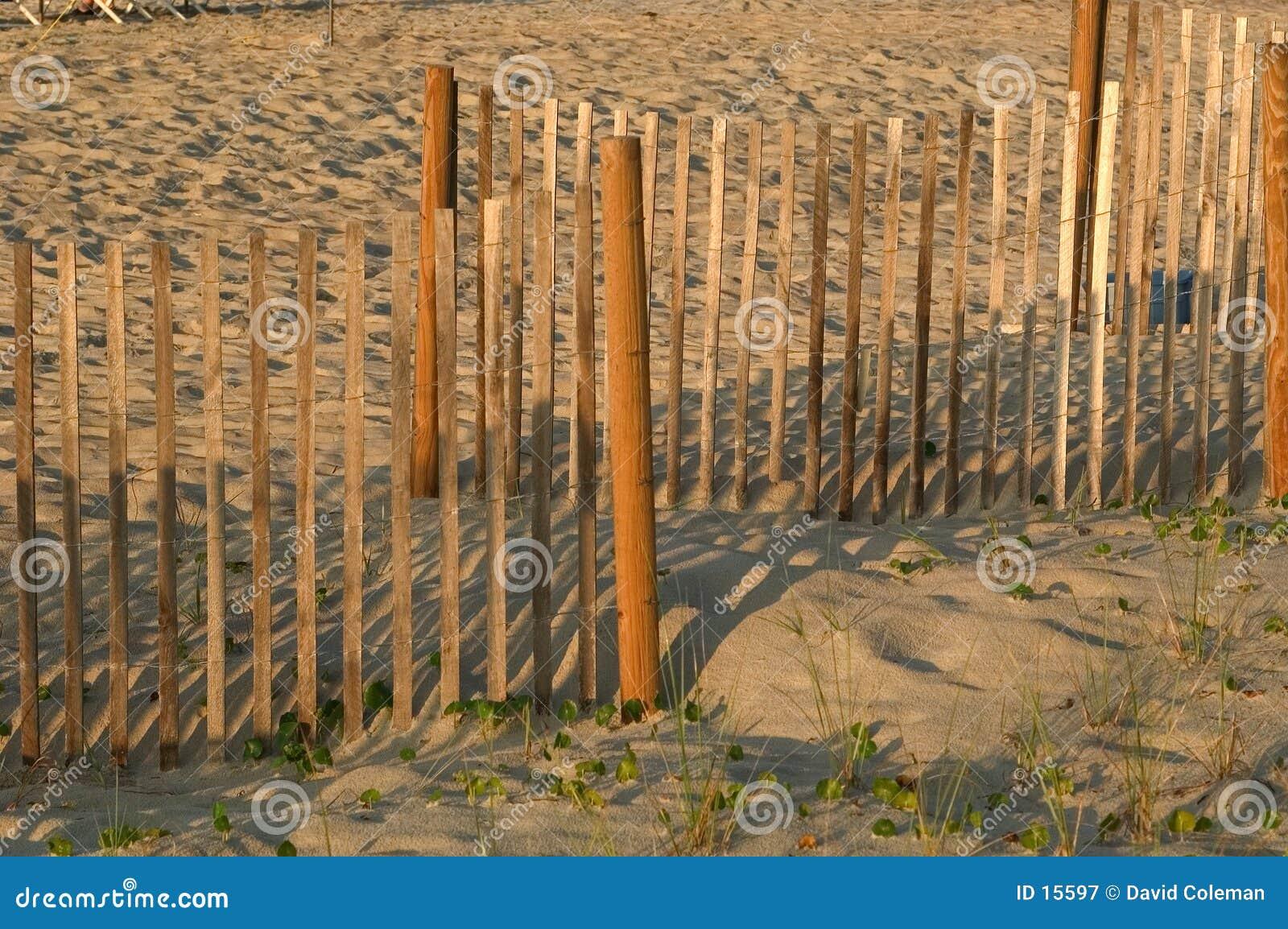 Frontière de sécurité dans le sable