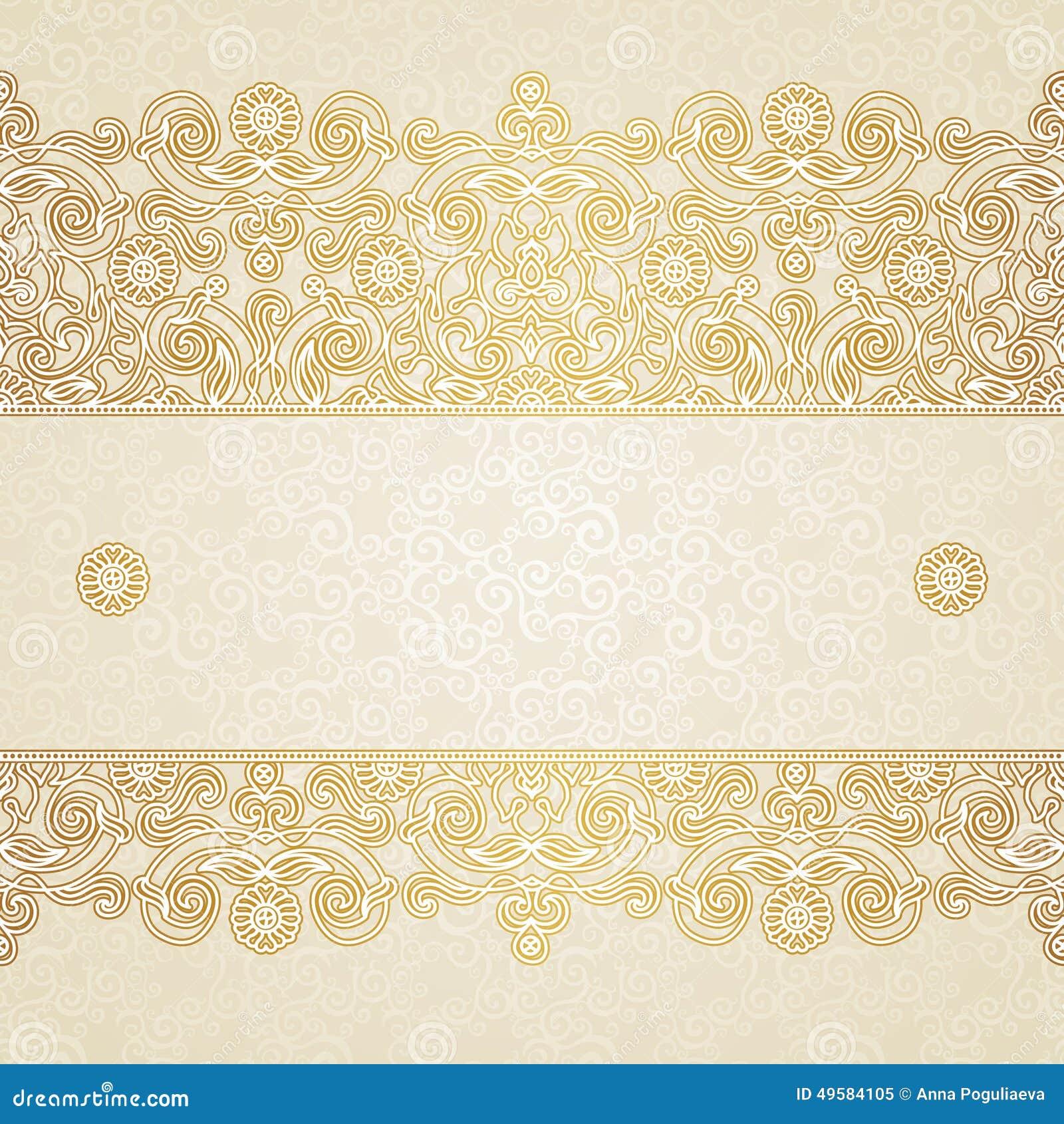 Frontière florale de vecteur dans le style oriental