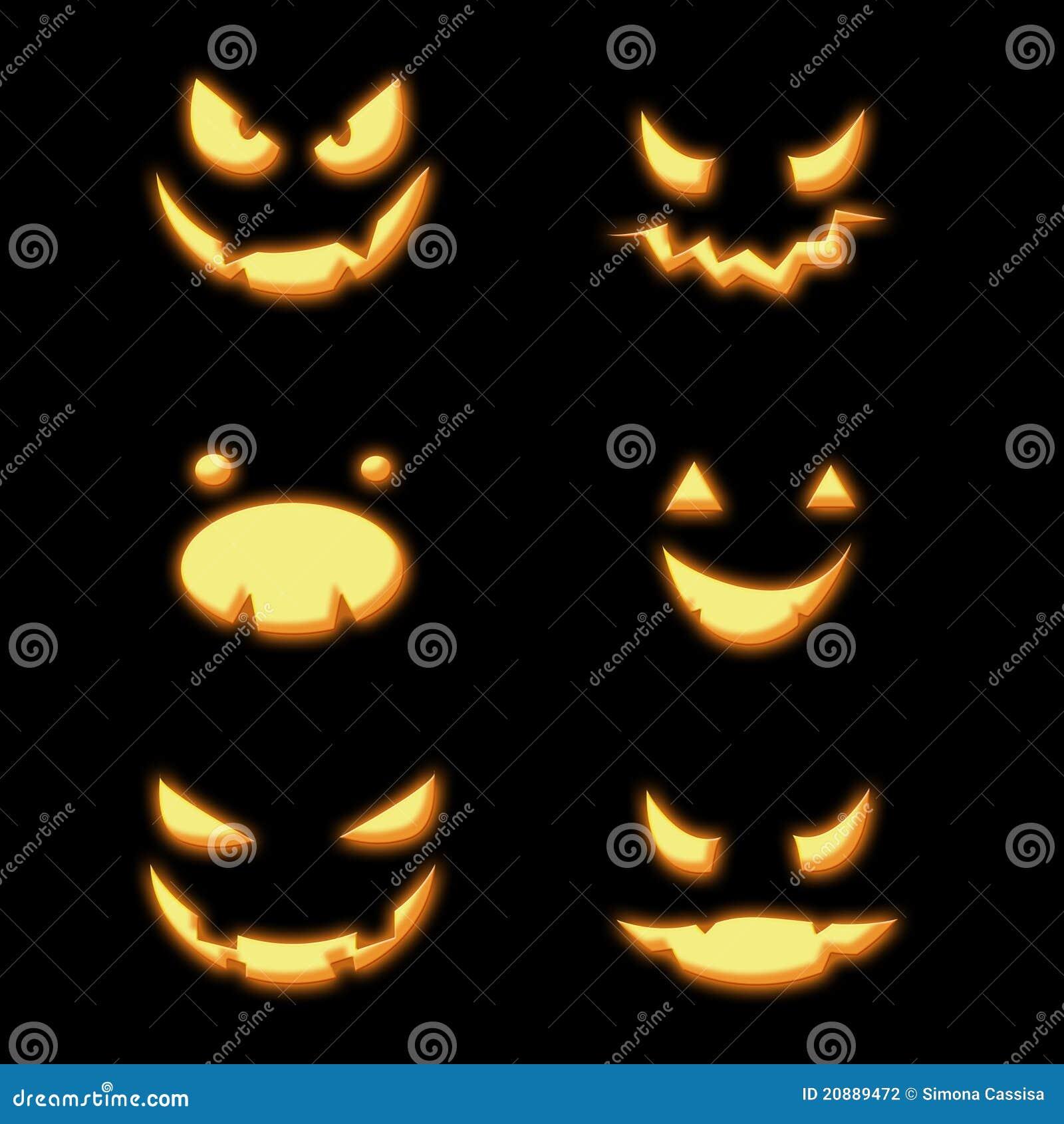 Fronti delle zucche di halloween illustrazione di stock for Foto zucche halloween