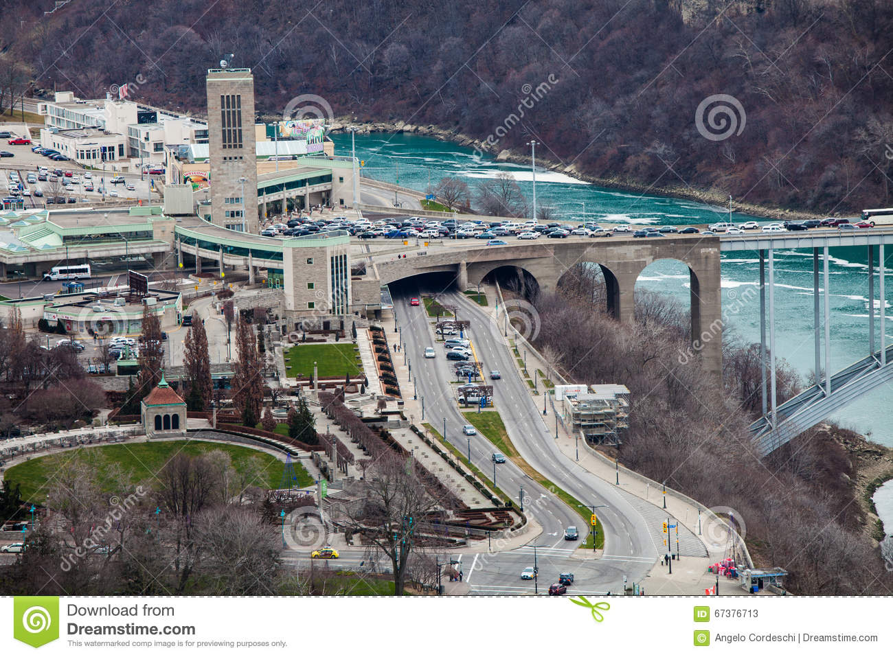 Frontier Border United States And Canada Niagara Falls Aerial Niagara Falls Bridges To Usa Map