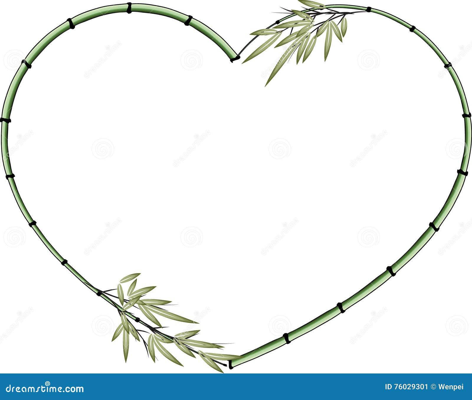 Fronti re en bambou de forme de coeur de dessin de vecteur illustration de vecteur image 76029301 - Dessin en forme de coeur ...