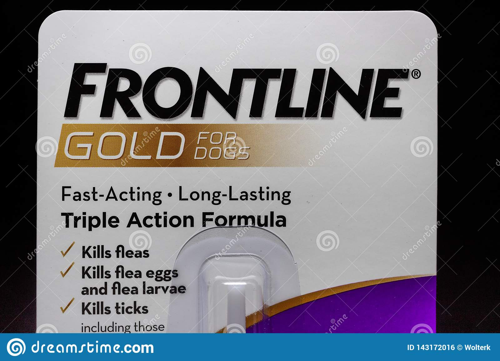 Frontline Gold Container and Trademark Logo