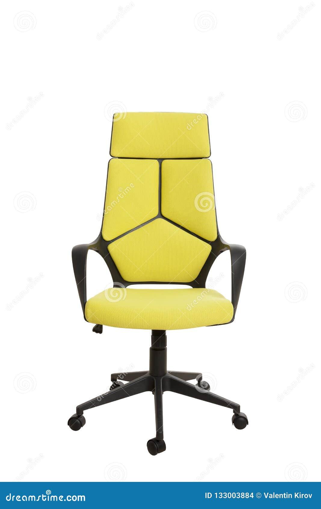 Frontowy widok nowożytny biurowy krzesło, robić czarny klingeryt, upho