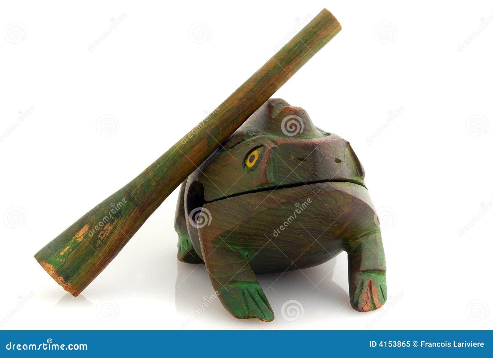Frosch, afrikanische Kunst stockbild. Bild von instrument - 4153865