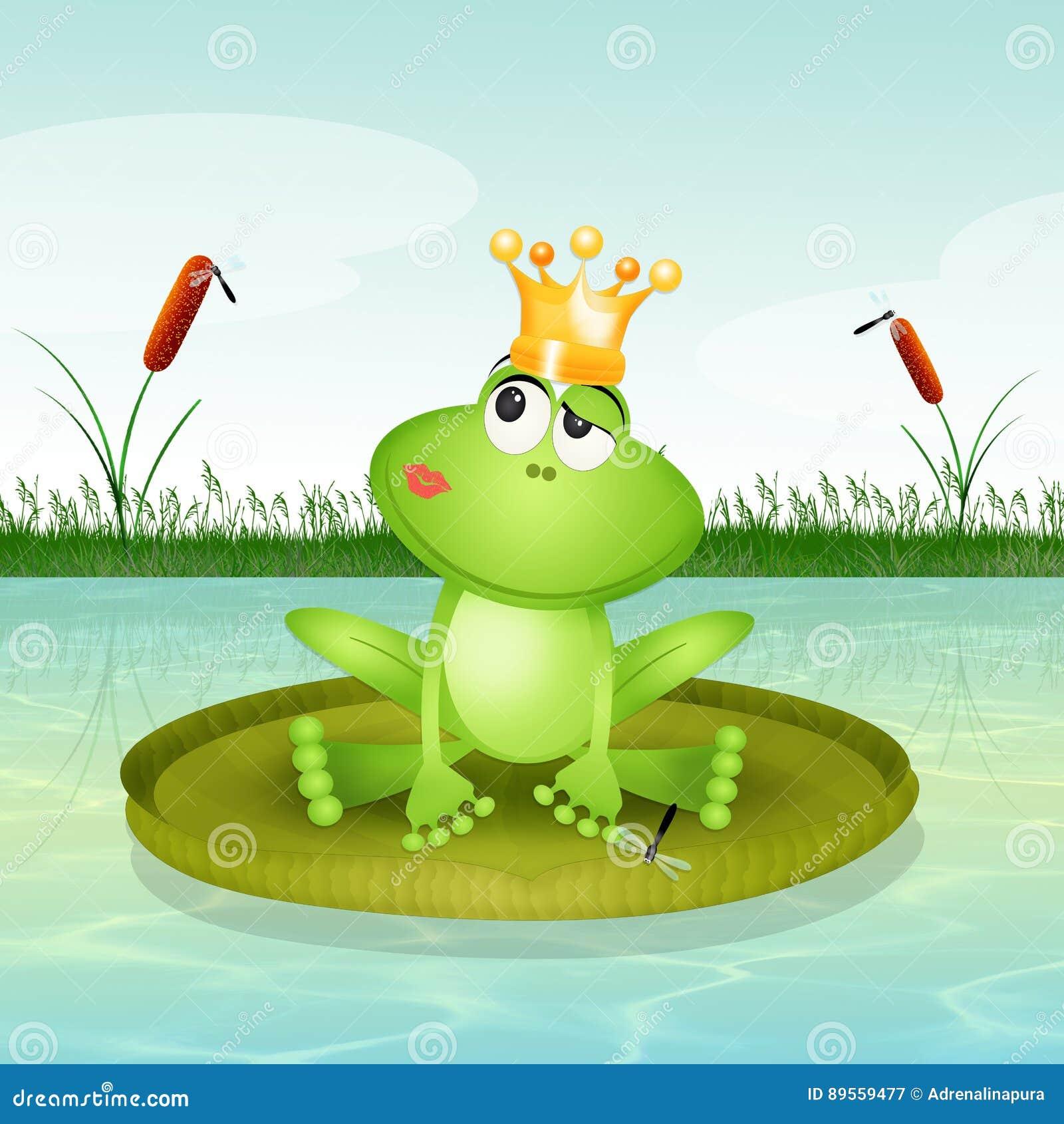 frosch auf seerose stock abbildung illustration von froh