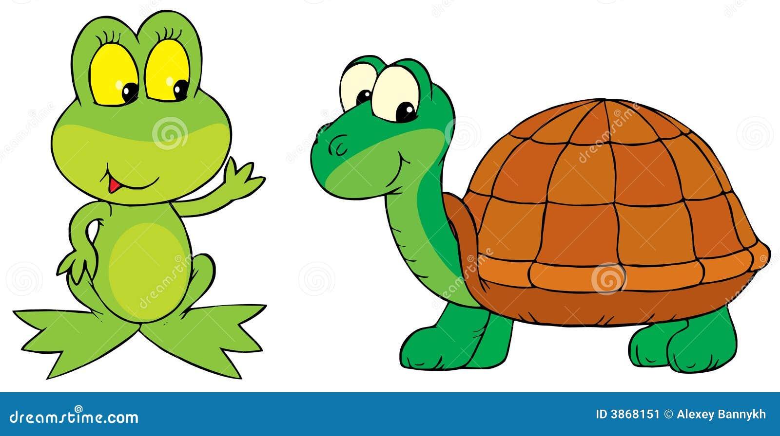 Frosch Und Schildkröte Stockbild - Bild: 3868151