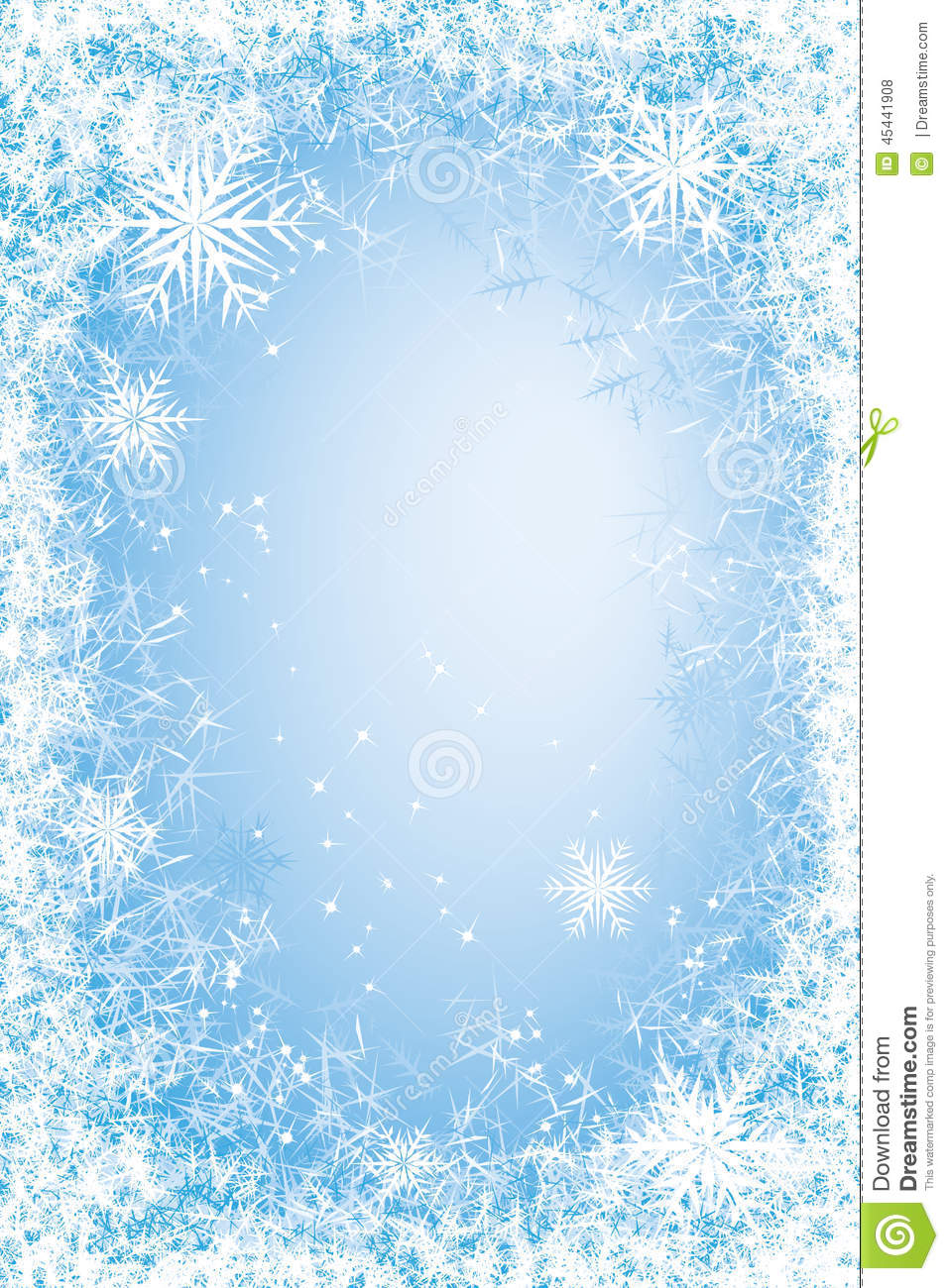 Frost Frame Stock Vector Image 45441908