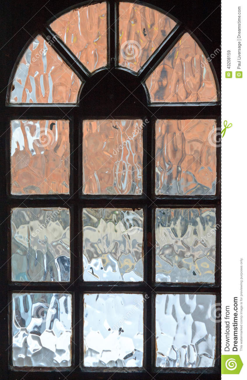 Frosted glass front door - Frosted Glass View Through Front Door Stock Photo