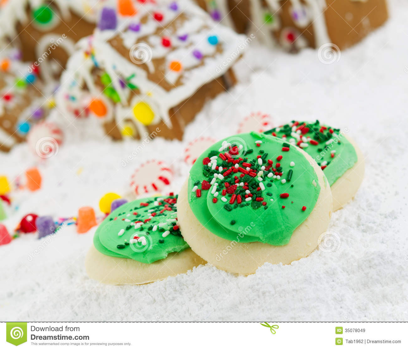 Frosted Holiday Cookies For The Season Of Joy Royalty Free Stock ...