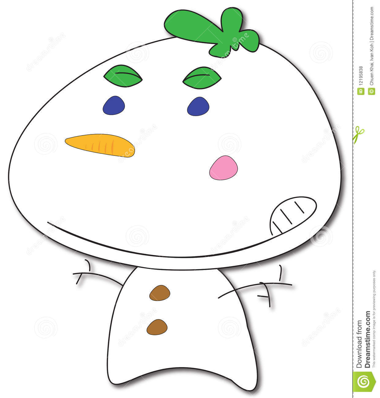frosty snowman cartoon royalty free stock photos image 12195838