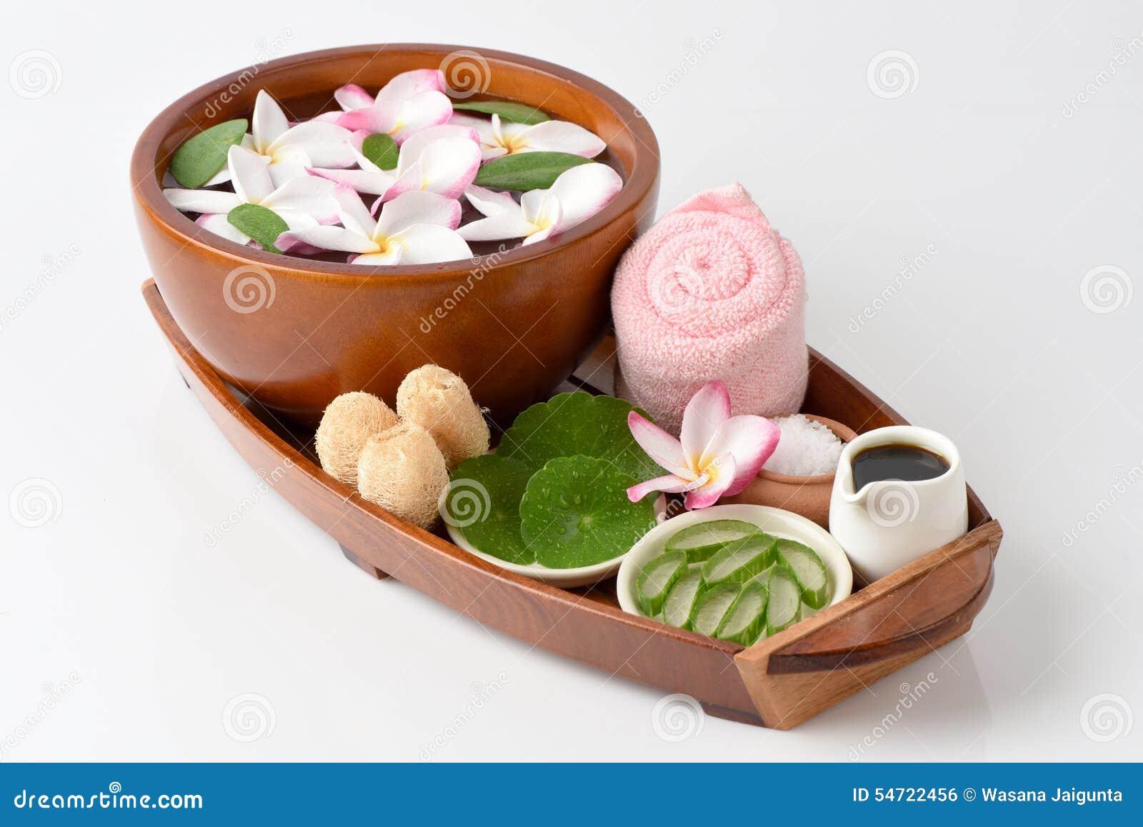 Frottez la station thermale avec l aloès de mélange de sel Vera, Pennywort asiatique, Tiger Herbal et miel
