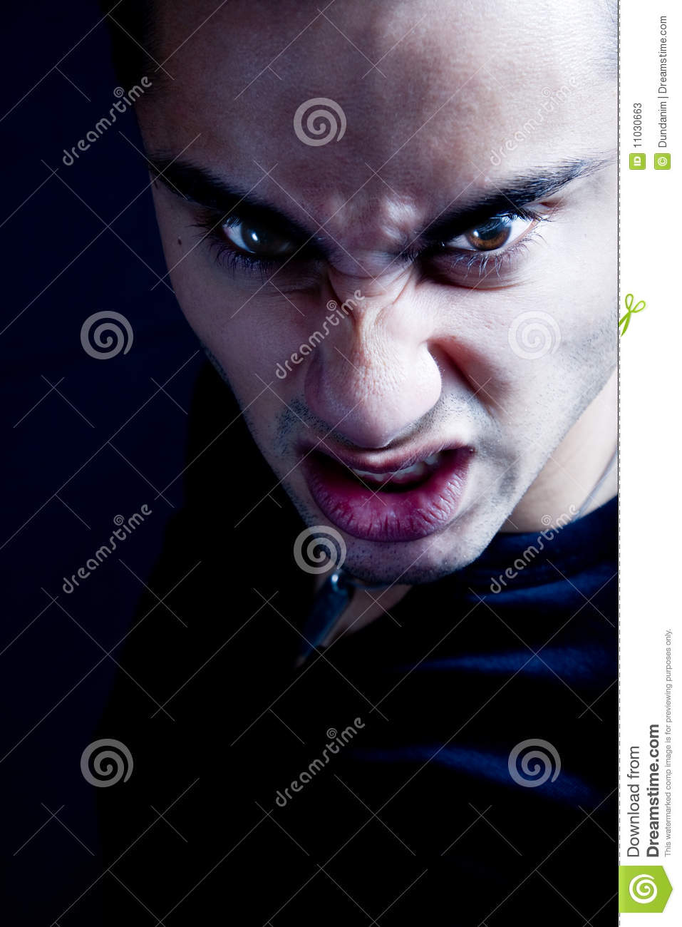 Frown Of Scary Sinister Evil Vampire Man Stock Photos ...