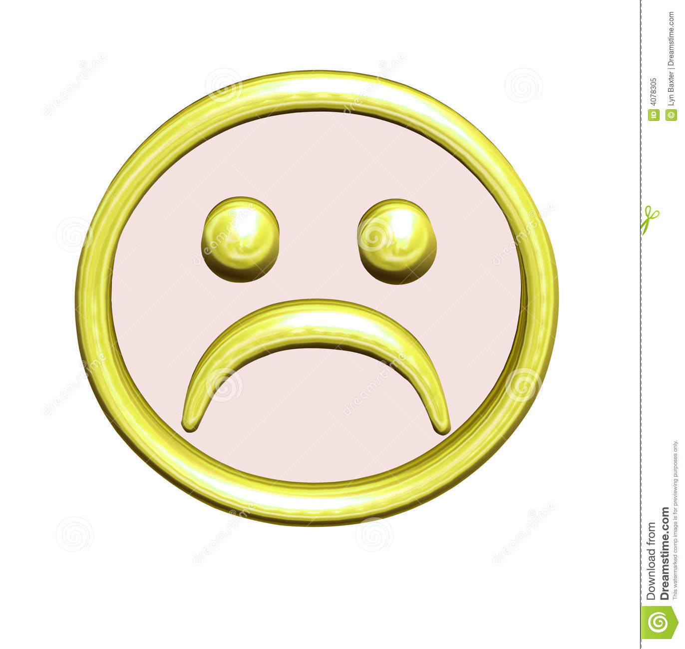 Frowny face button stock illustration illustration of gold 4078305 frowny face button buycottarizona Gallery
