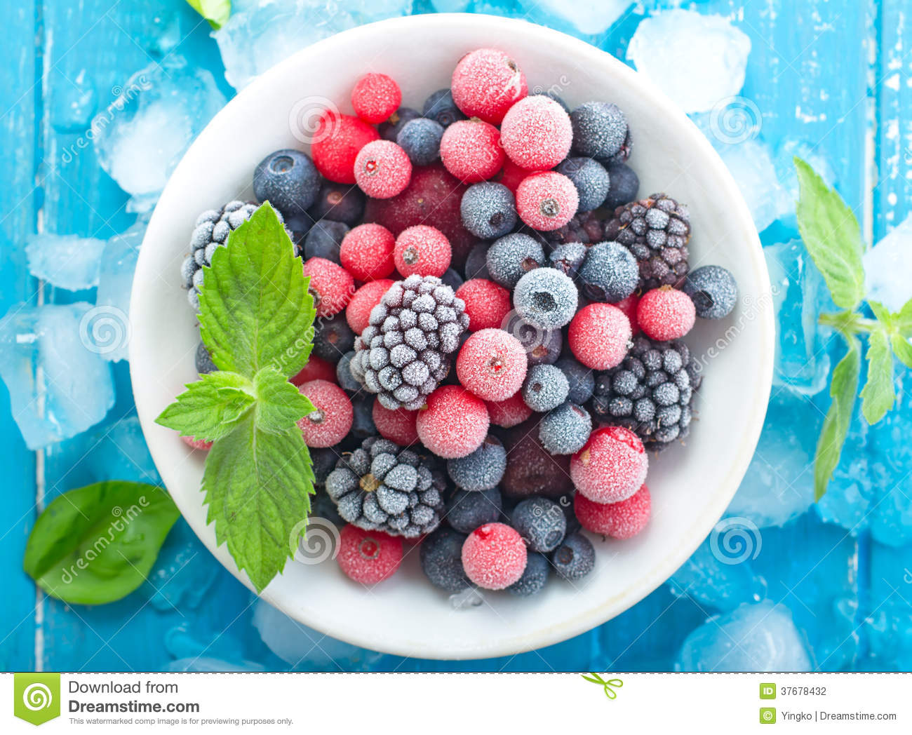Download Frozen berry top view stock photo. Image of frosting - 37678432