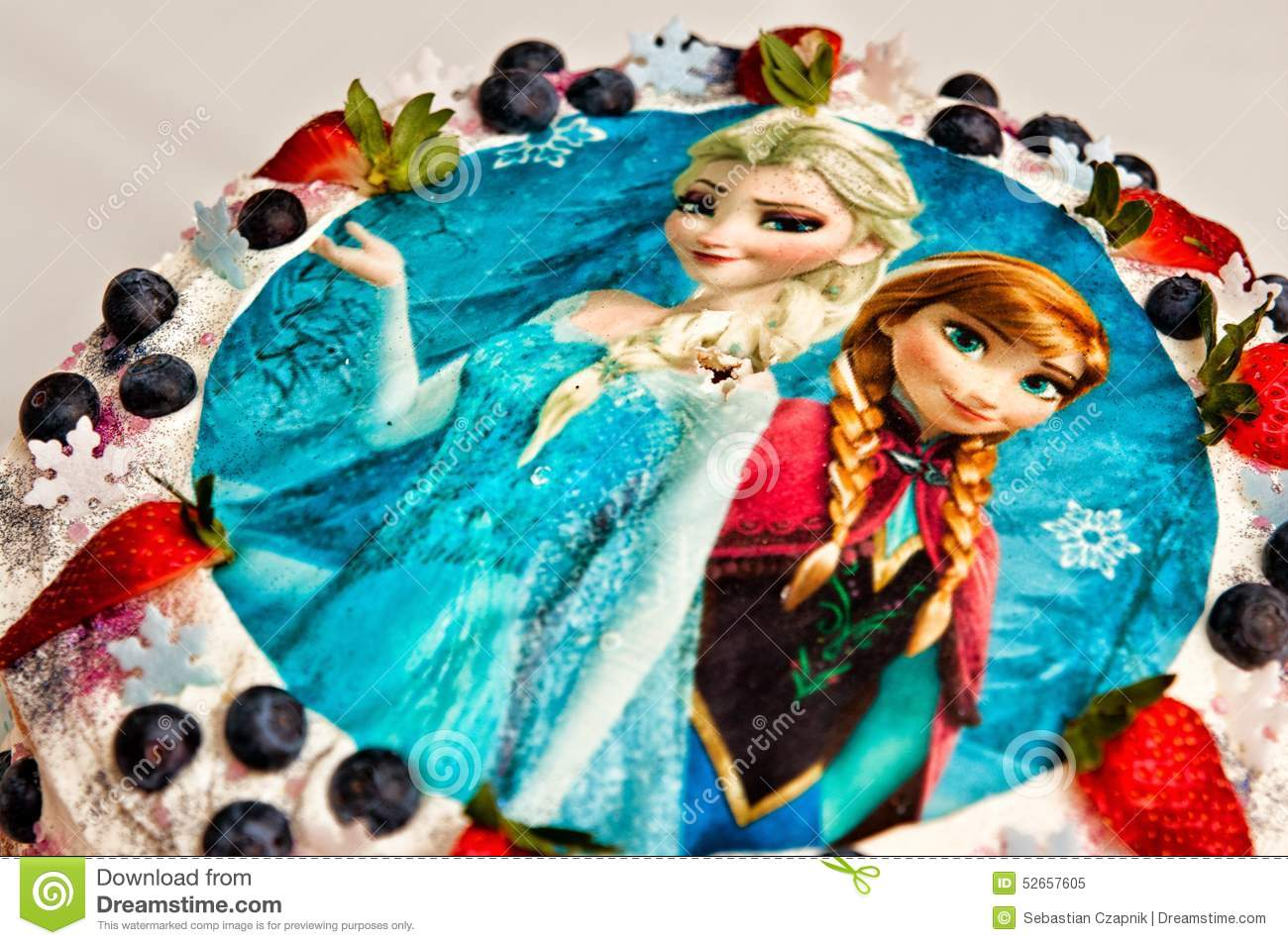 Frozen Birthday Cake Editorial Image Image 52657605