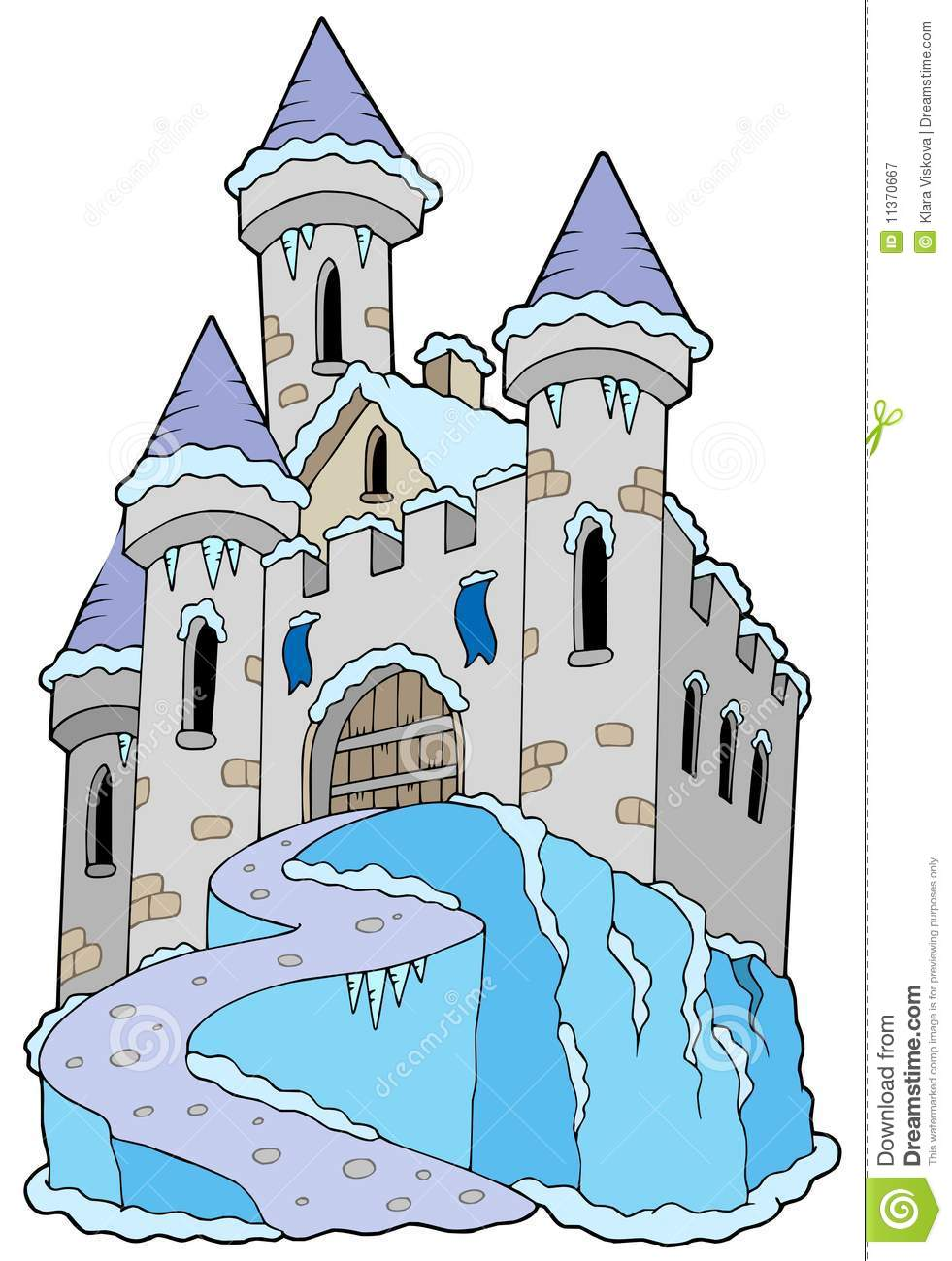 Stock vector of cartoon illustration castle isolated on white - Frozen Castle Royalty Free Stock Photography Image 11370667