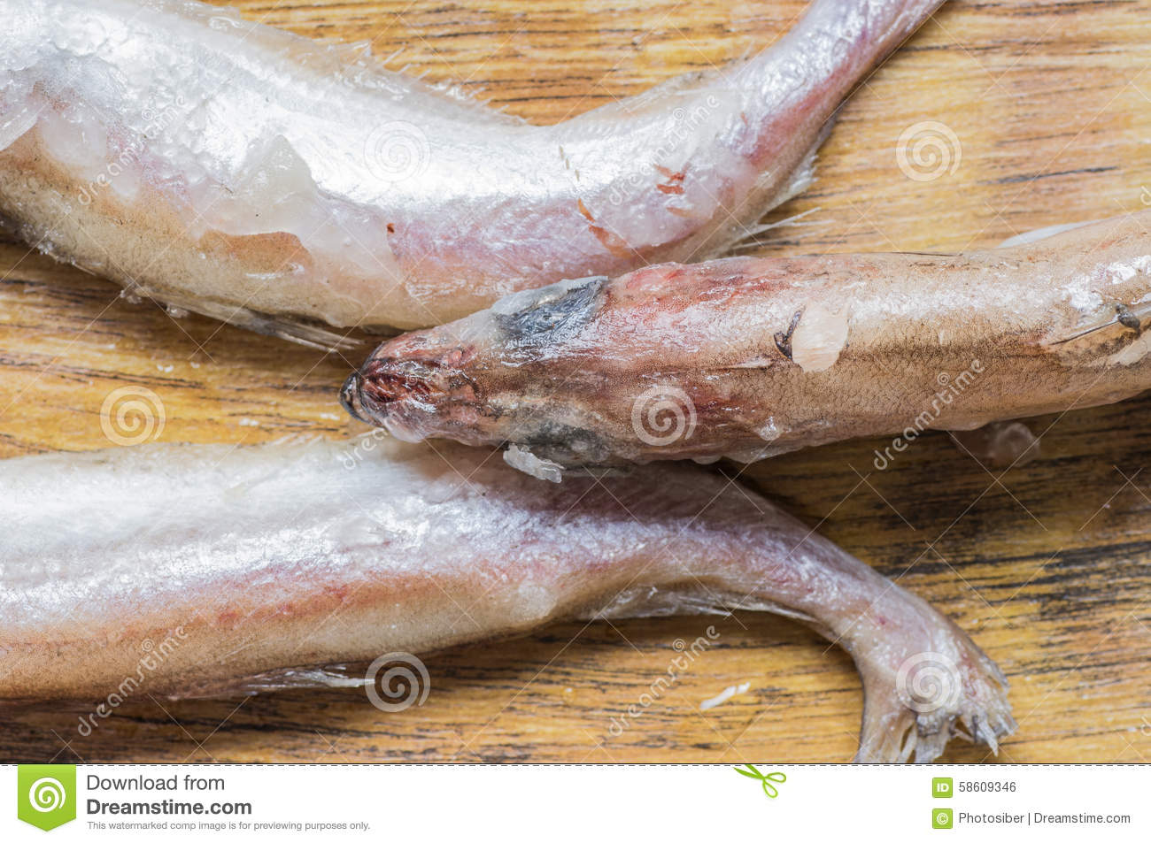 Frozen fish tails and the head stock photo image 58609346 for Best frozen fish
