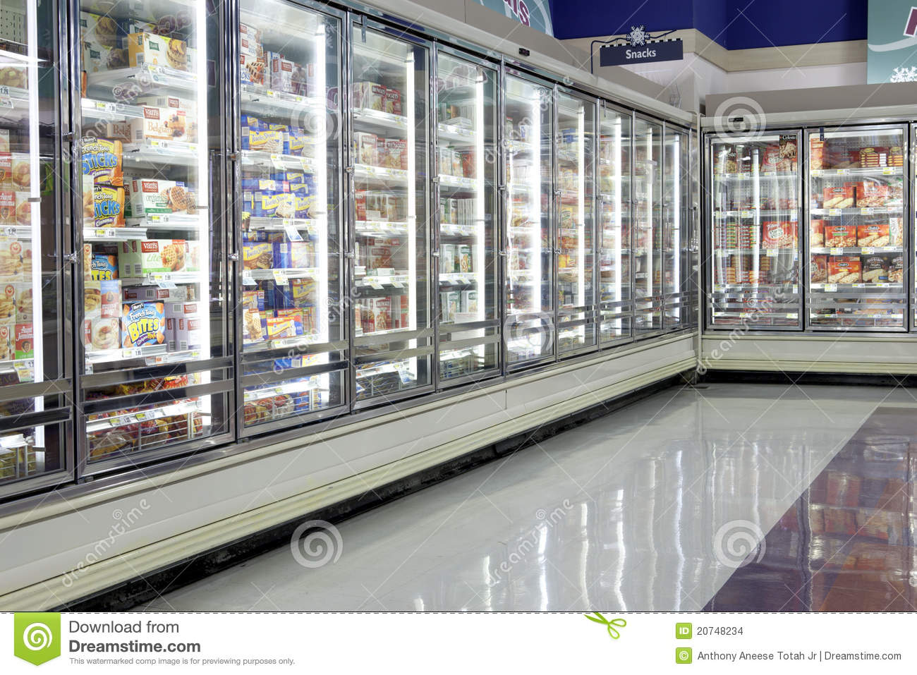 Frozen food section editorial stock image image 20748234 for Cuisine store