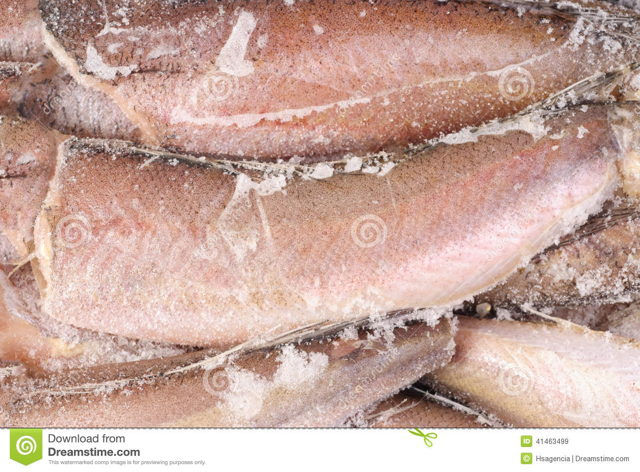 Frozen hake fish as food background stock photo image for Frozen fish food
