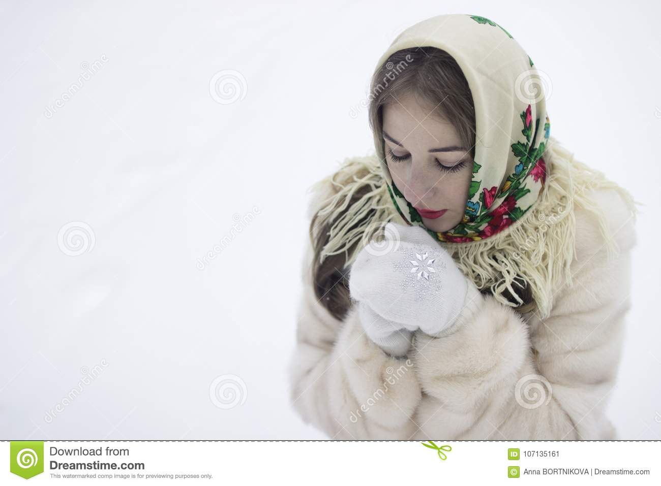 Frozen hands warms your breathing