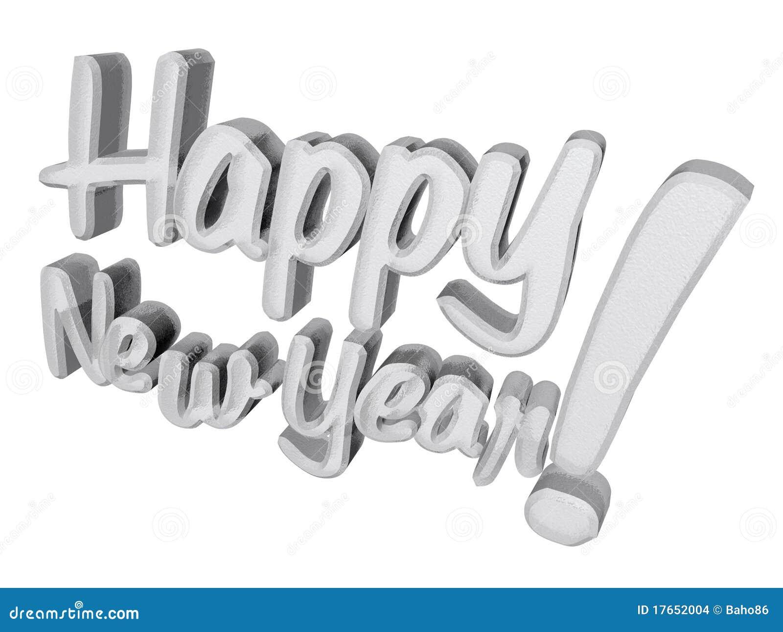 frozen happy new year in 3d