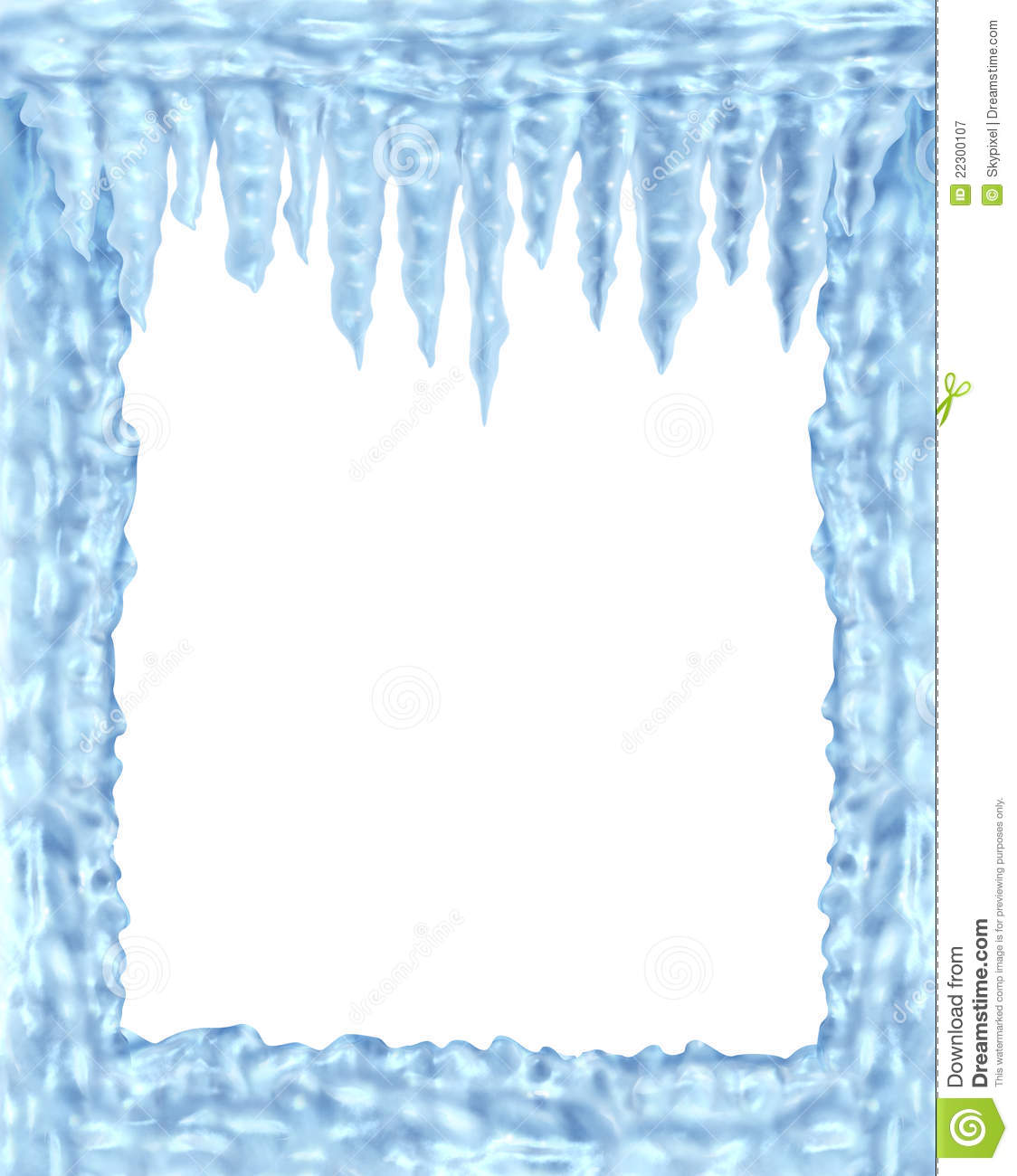 Frozen Ice And Icicles Frame Stock Illustration