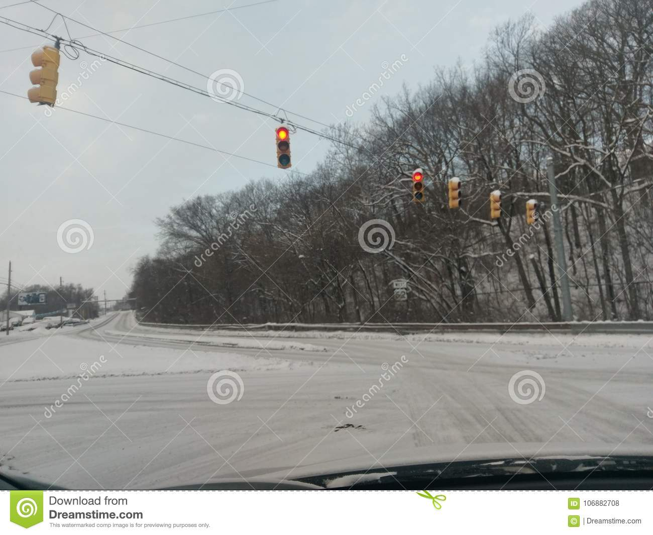Frozen Lafayette Indiana on New Year`s Eve