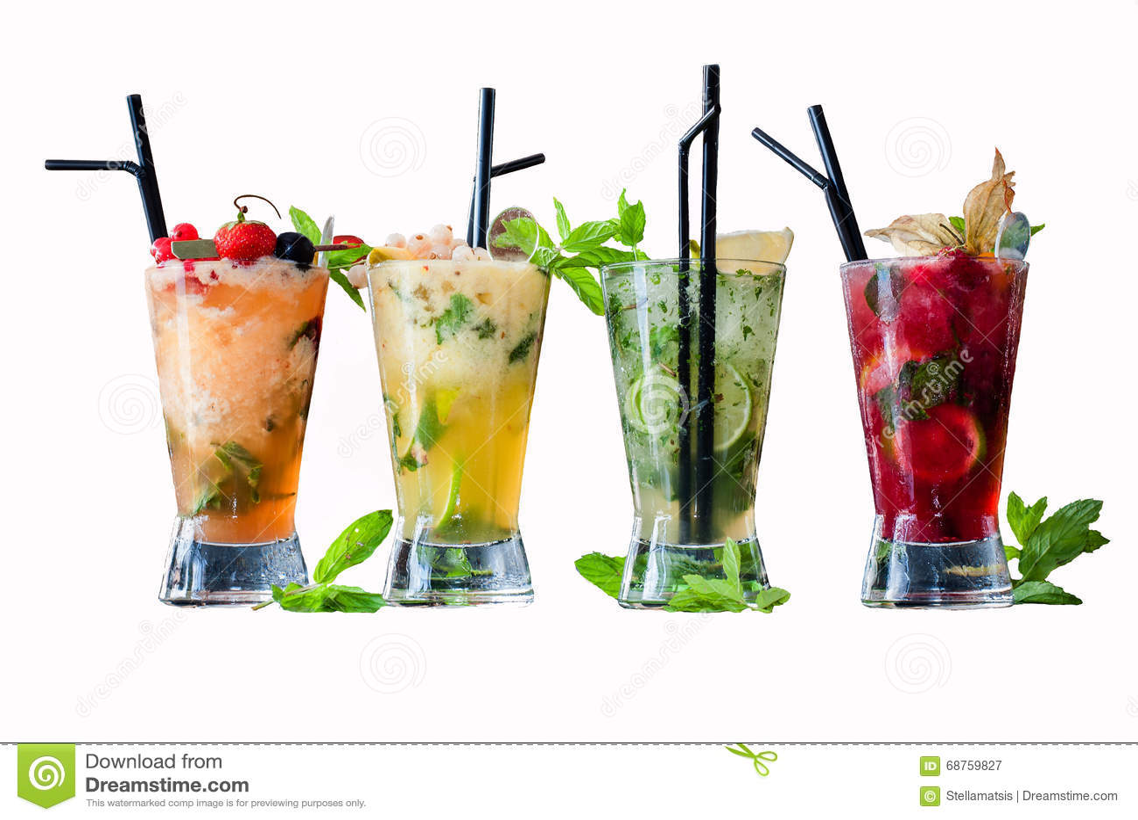 Frozen Mojito Flavors Stock Image Image Of Frozen