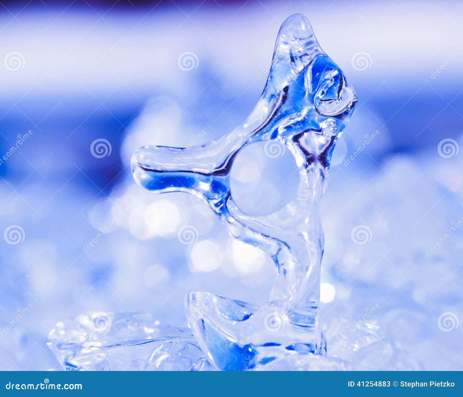 Frozen Natural Ice Sculpture Nature Abstract Art Stock