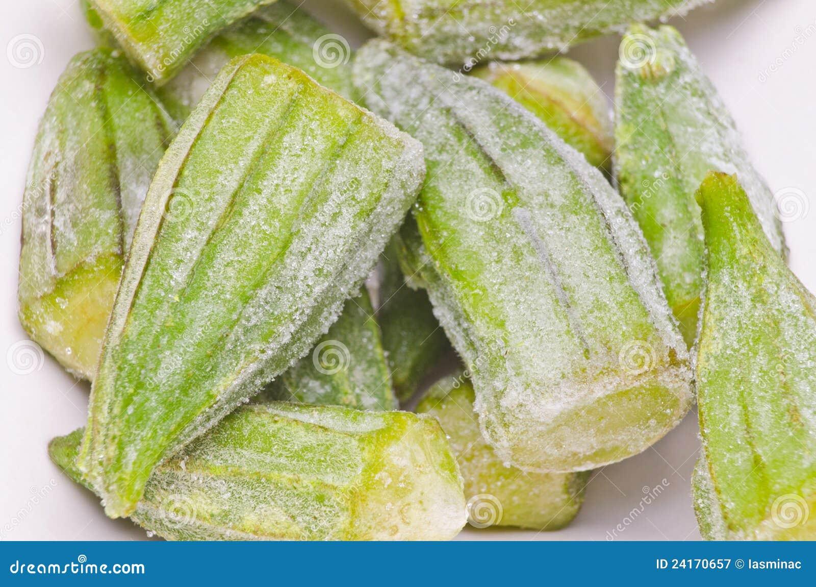 Frozen Okra Stock Image Image Of Organic Eating Diet 24170657