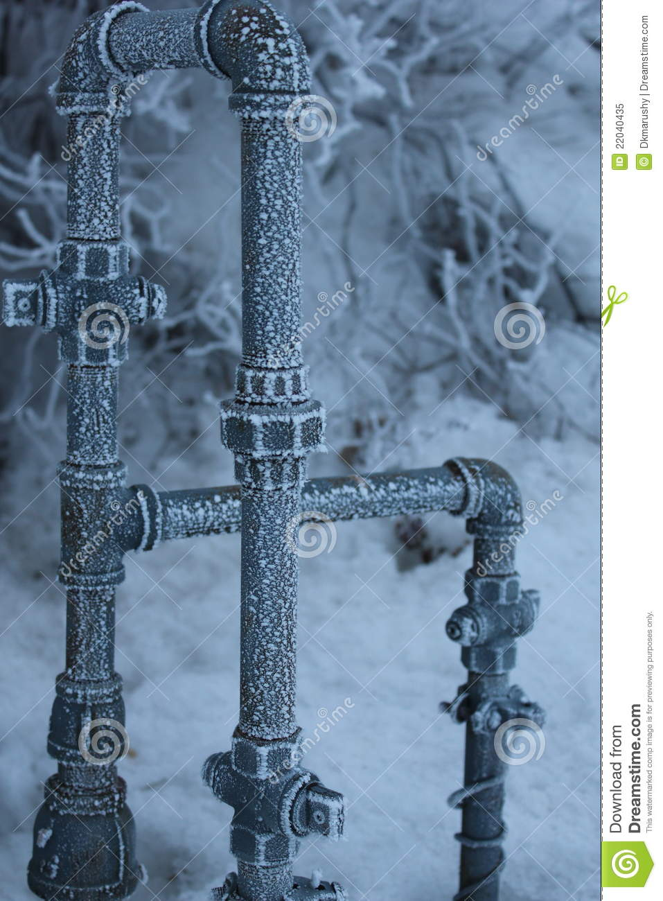 Frozen Pipes 2 Royalty Free Stock Photo Image 22040435