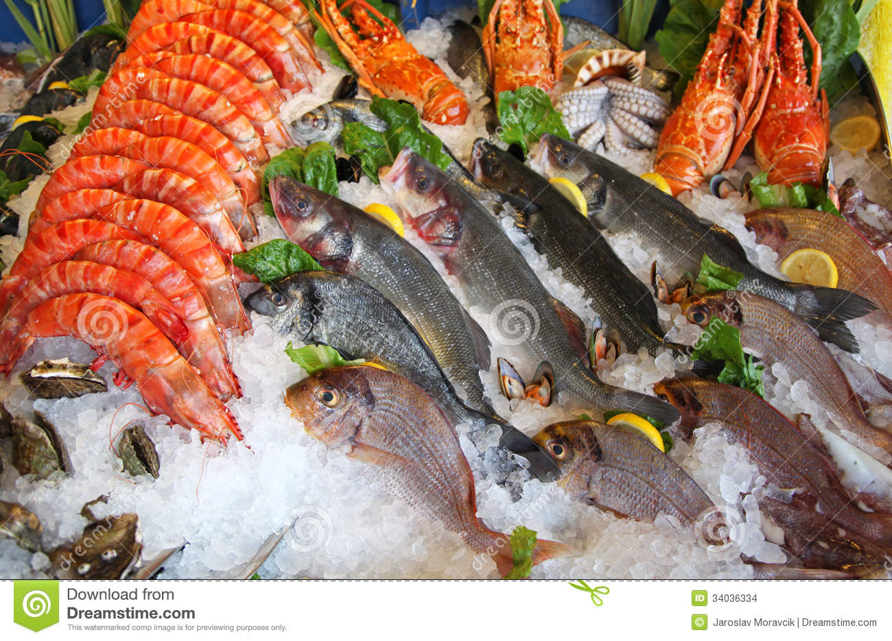 Frozen seafood royalty free stock photo cartoondealer for Best frozen fish to buy at grocery store
