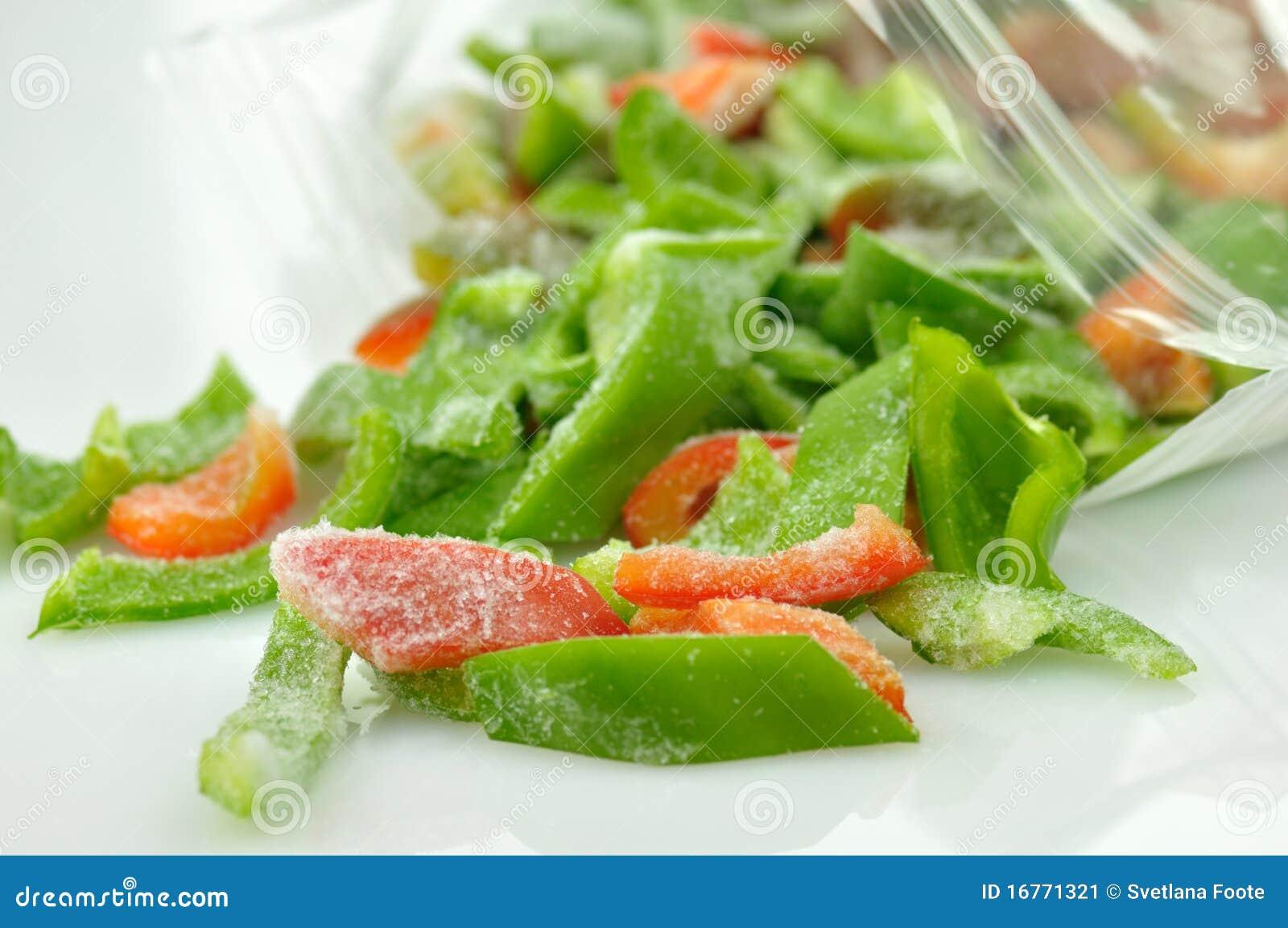 Frozen Sweet Peppers Stock Image