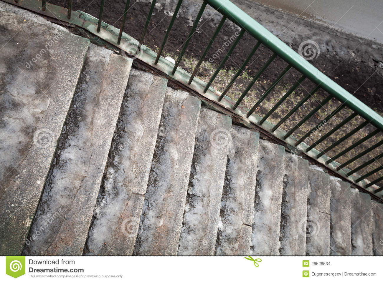 Frozen urban pedestrian concrete stairs stock photo for What happens to concrete if it freezes