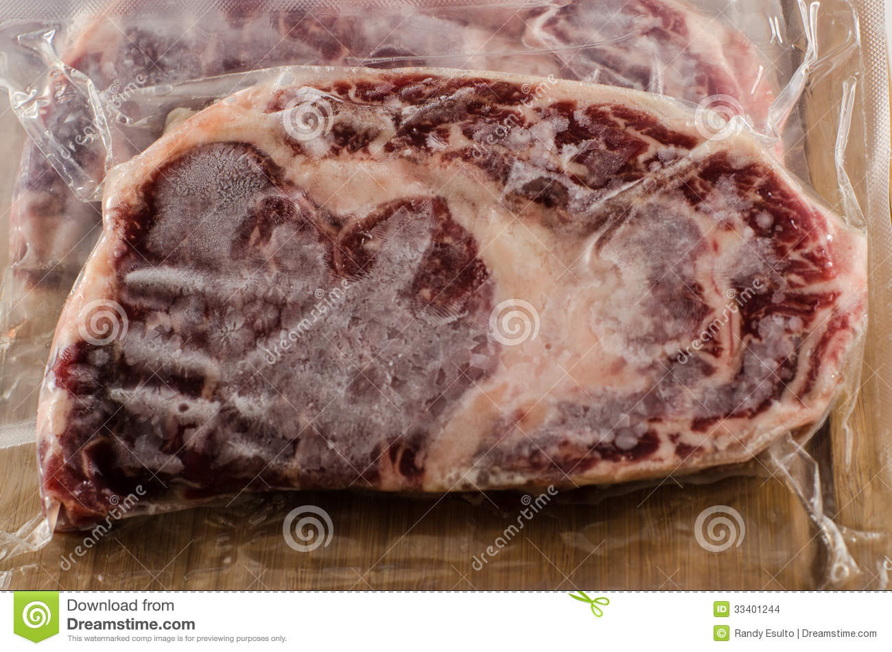 Frozen Vacuum Sealed Beef Rib Eye Steaks