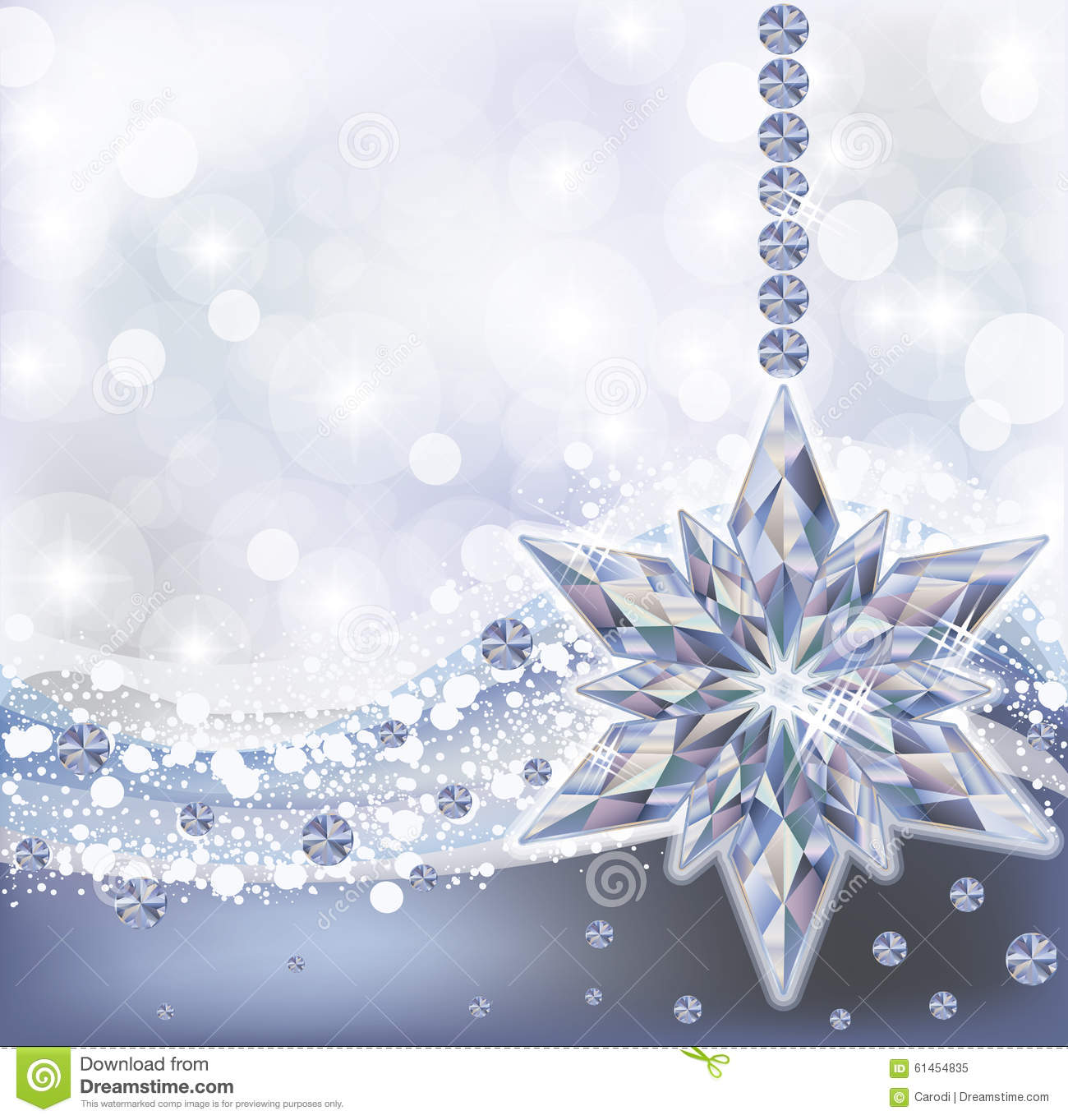 Frozen Wallpaper With Diamond Snowflake, Vector Stock ...