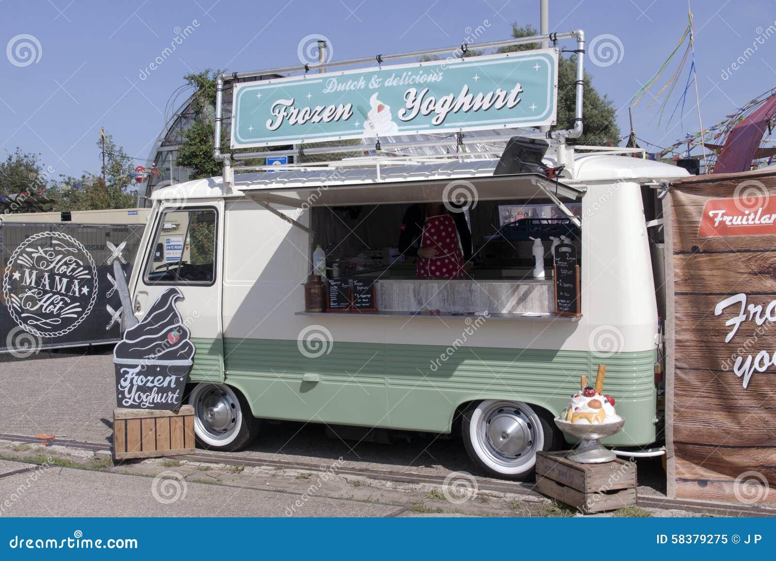 Frozen yoghurt editorial image image 58379275 for Food truck design app