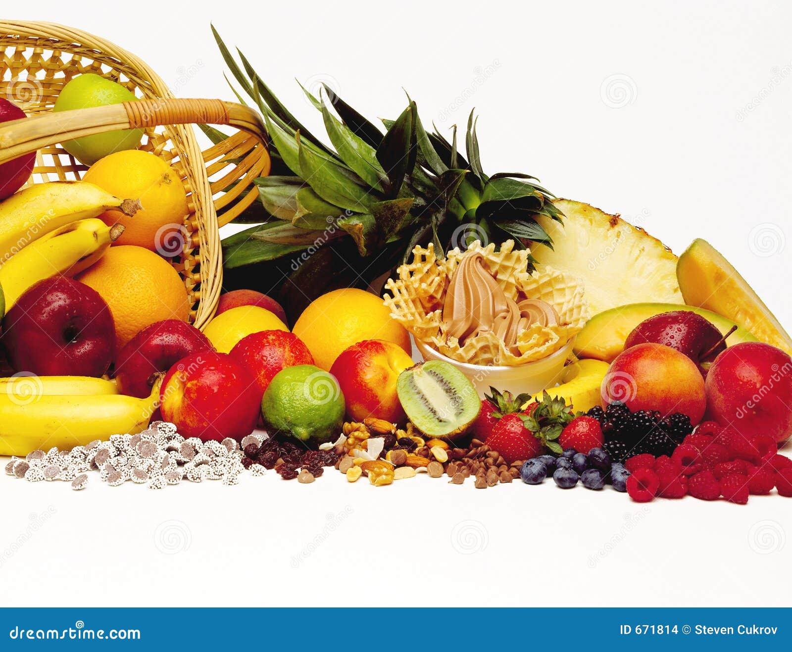 frozen yogurt with fruit stock photo image of strawberry 671814