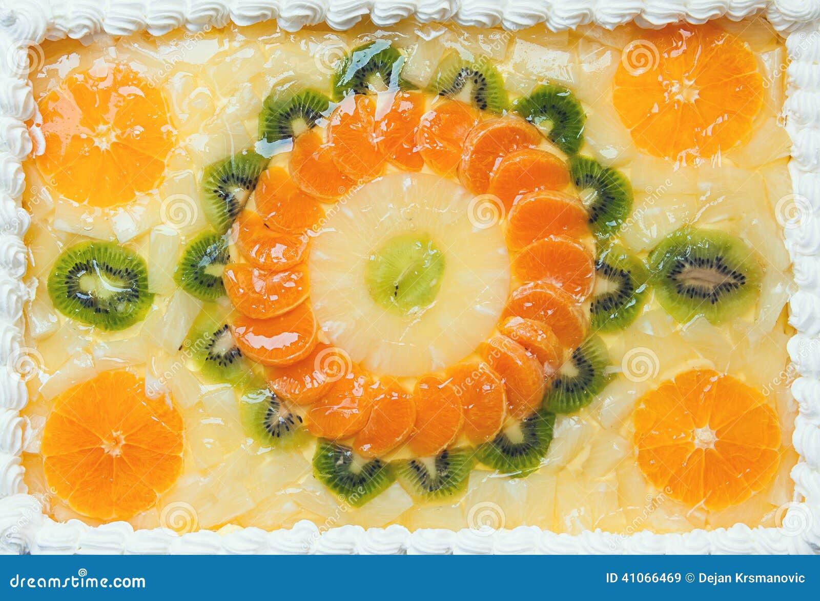 Fruchtiger Kuchen Stockbild Bild Von Kostlich Mosaik 41066469