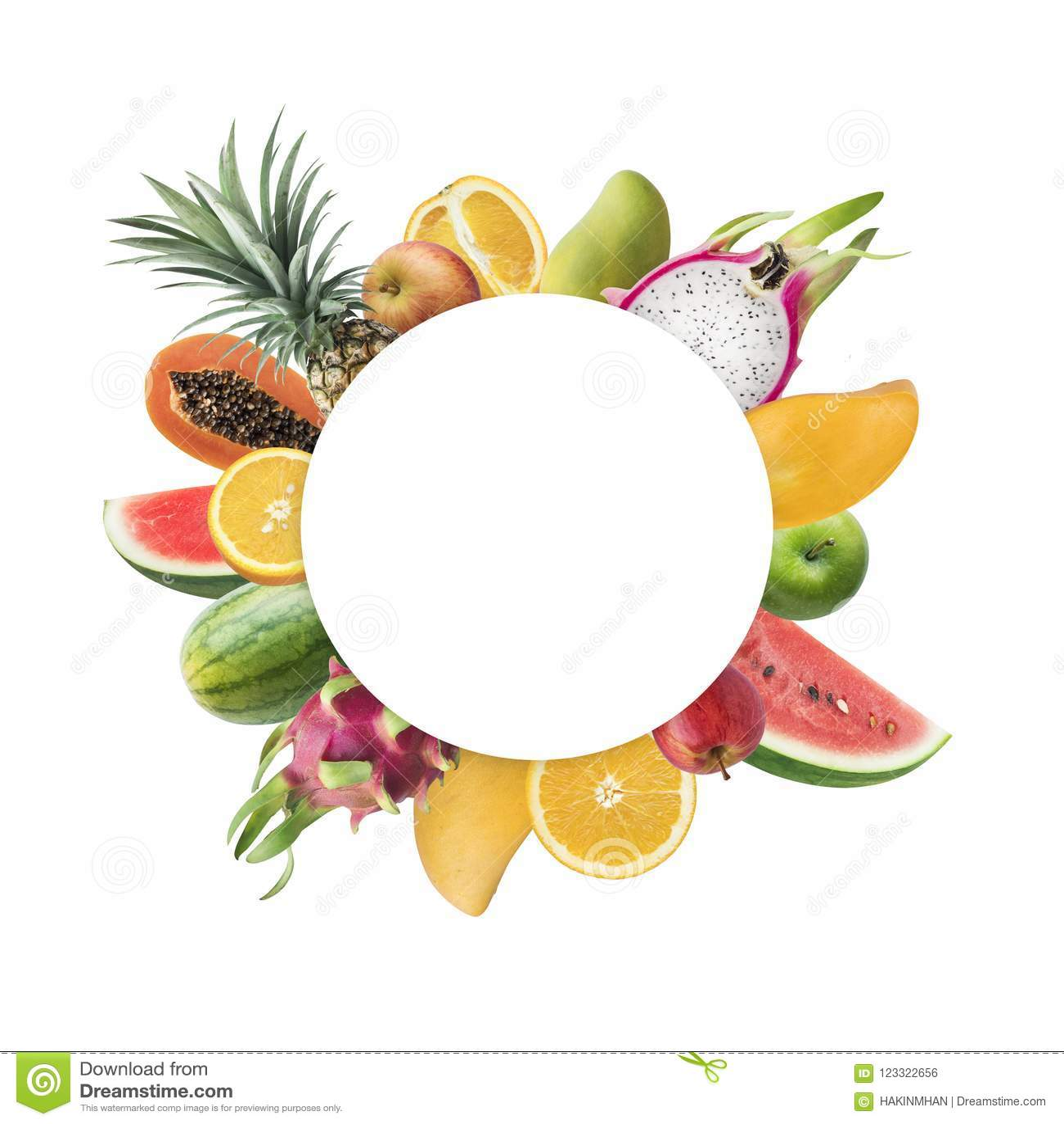 Fruchtmarkt-Festivalkonzeptideen mit weißem Kopienraum