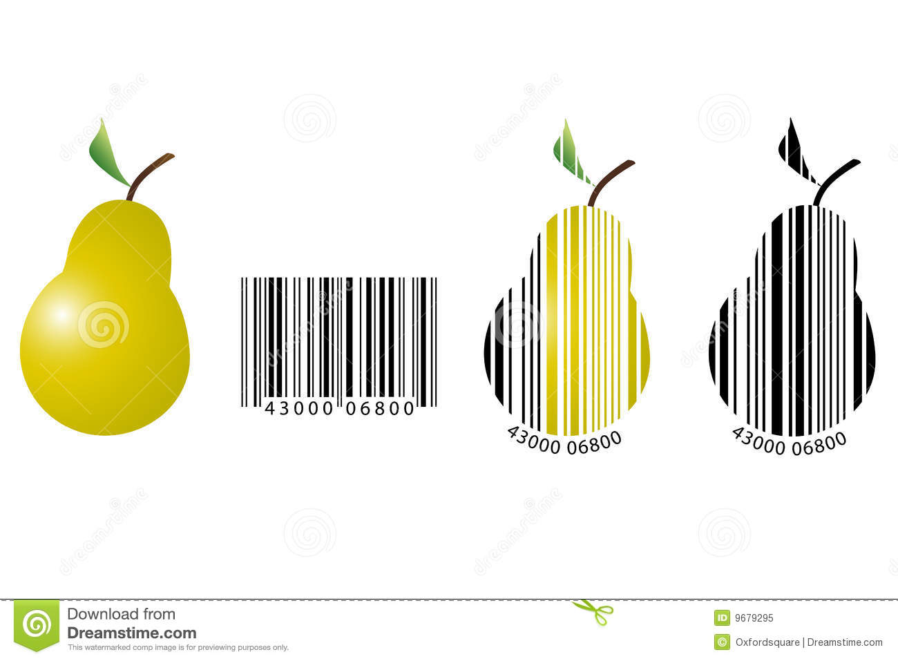 Fruit barcode stock illustration illustration of buyer for Food barcode