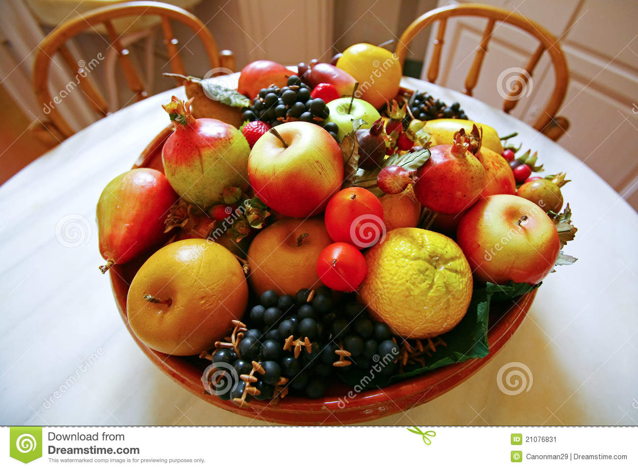 Fruit basket on the table stock image. Image of life ...